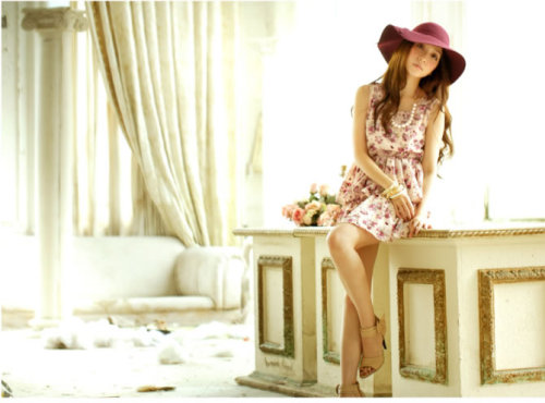 "FLORAL Dress ""No dull moments"" when you wear this kind of dress. It looks so feminine, No need for accessories. A simple floral or plain colored stud earrings will complete the outfit. 