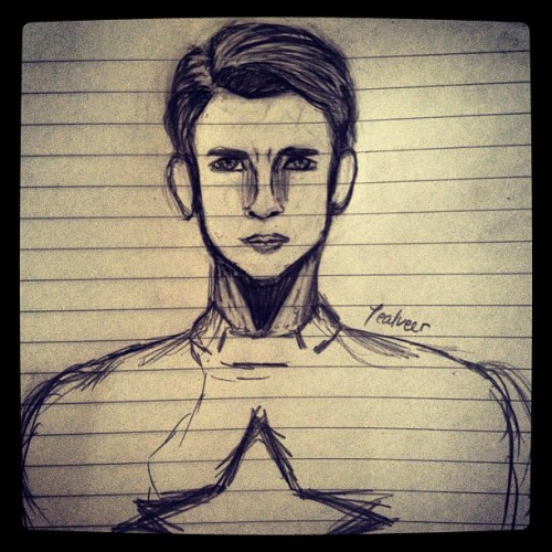 #avengers #drawing #captain #america and I don't know why I end up drawing these.. Art © Tealveer (Taken with instagram)