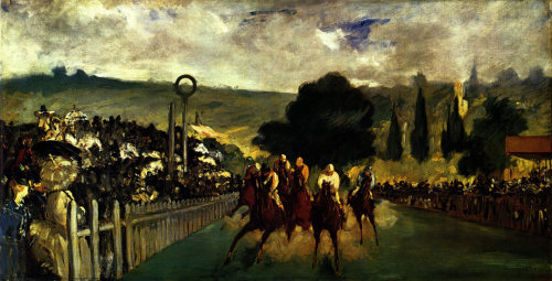 The Races at Longchamps by Edouard Manet, 1867 is the first in our 10 best sporting artworks, here's a link to the rest of the list.
