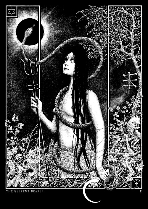 sorornex:  By Glyn SmythCover illustration for zine The Serpent Bearer #2