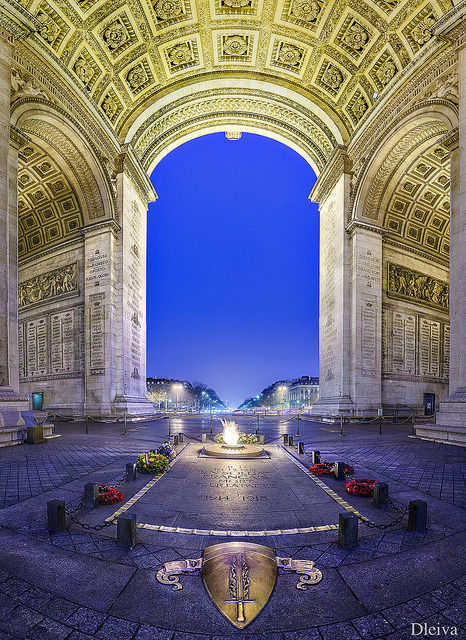 Arch of Triumph, Tomb of the unknown soldier, Paris, France. on Flickr.