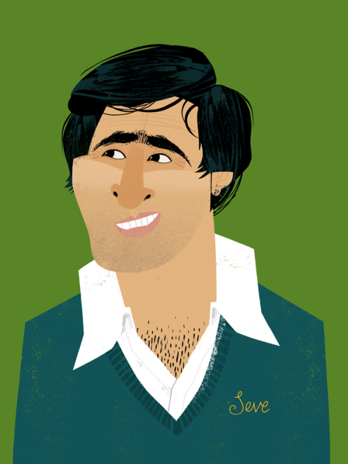 A portrait of Golfer, Seve Ballesteros, created for my Brother's 25th birthday present!
