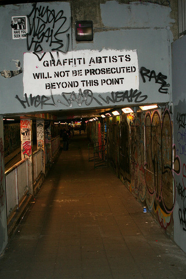 californiacornflakes:  leake street entrance | -stickee-