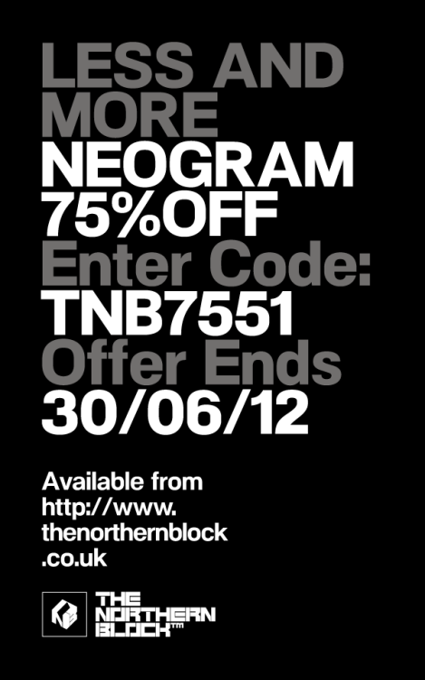 NeoGram - Typeface The NeoGram typeface has been through an extensive update program elevating the work to a much higher professional level. The font includes additional weights with italics an extended European character set, ligatures, fractions, lining, tabular and old style numbers. Other refinements include smoother curves, more harmonious letter-fit, improved kerning and various open type features.  Available from The Northern Block  http://www.thenorthernblock.co.uk/neogram.htm  75% OFF Family Packages Enter code: TNB7551 Offer ends 30/06/12