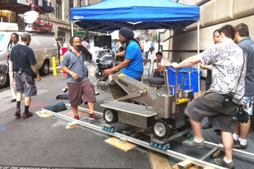 on set in wall street, NY