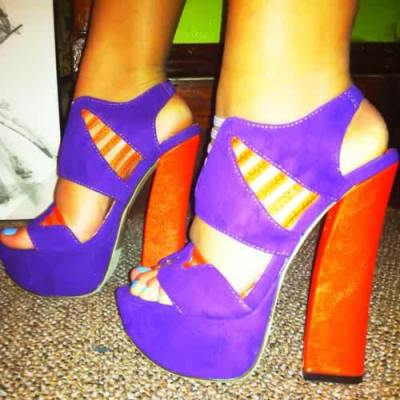 adisaidi:  I love the block//chunky heel… I'm not one for purple though, but I die for these shoes. I love 'em