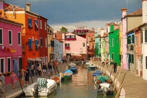 Venetian Lagoon on the island of Burano, Italy photo by Zhebiton