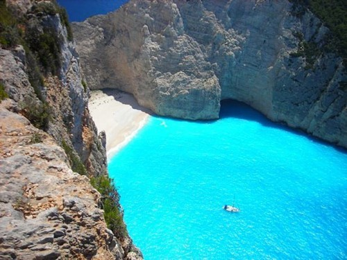 Turquoise Sea, Zakynthos Island, Greece photo via mali