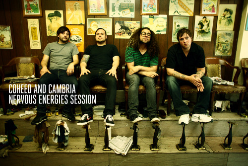 "Brand new Nervous Energies session with Coheed and Cambria! Watch the band play ""Mother Superior"", ""Feathers"", and ""A Favor House Atlantic"" over at http://www.nervousenergies.com"