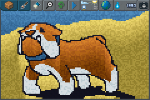 Bulldog Play The Sandbox - Discover a unique #particle #8bit #pixelart game on iPhone (http://bit.ly/thesandboxgame)  http://www.thesandboxgame.com