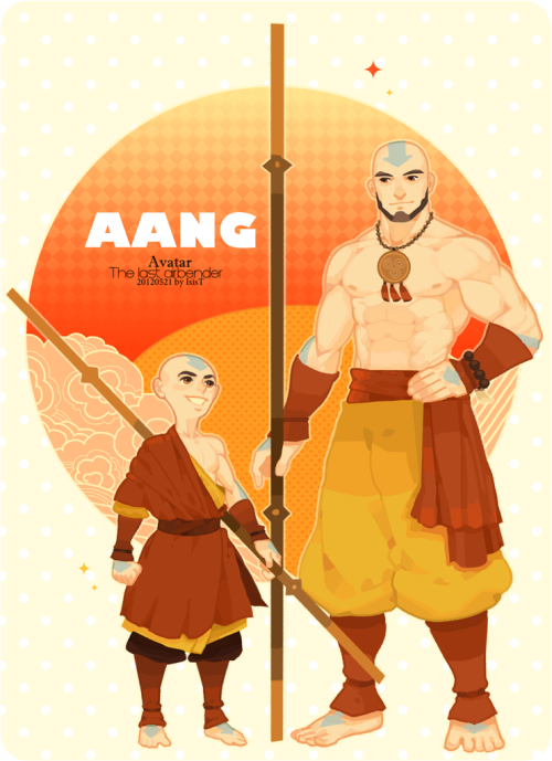 bowlersandtophats:  polapaz321:  Young Aang and old Aang  Yes, perfect