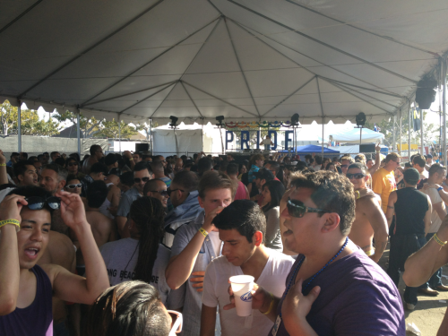 Dance tent Long Beach Pride 2012.