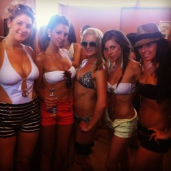 Bronzed beauties at #beachclub - love my girls