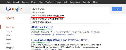 Oh Google, you never cease to amaze me.