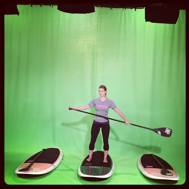Women's Health contributor @JenWiderstrom demos paddleboarding on the set of @LiveAccess #BestSummerBodies (Taken with instagram)