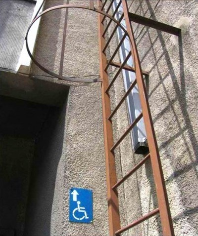 Accessibility… you're doing it wrong :( via Funny Signs