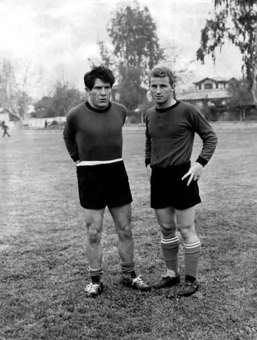 interleaning:  Omar Sivori and Giovanni Trapattoni, World Cup 1962.