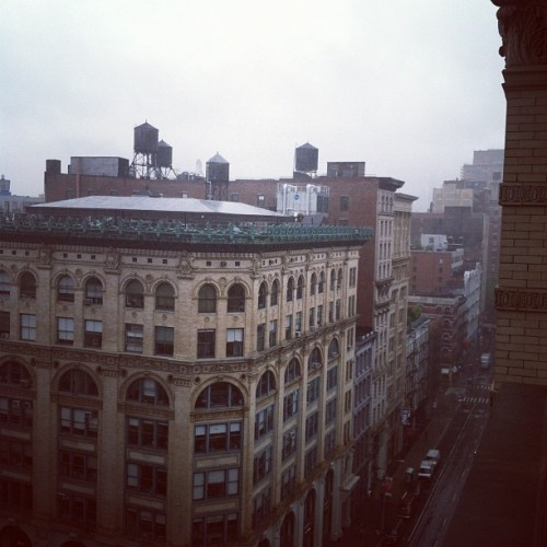 On a rainy day in Gotham the sky is sometimes so white and bright that it can hurt. Beautiful, really. #nyc #rain #city (Taken with instagram)