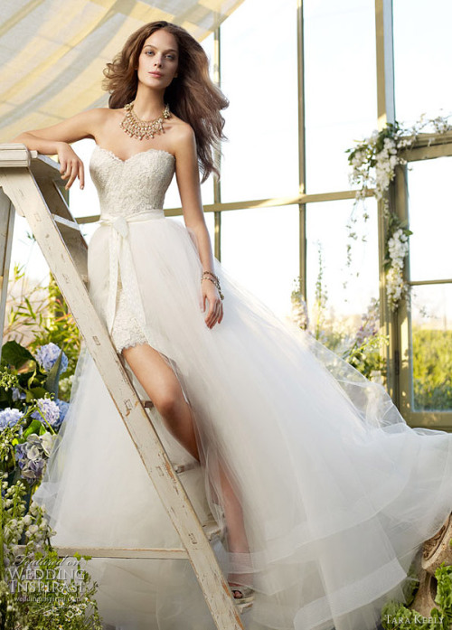 walkingthruafog:  walkingthruafog: Tara Keely Spring 2012 bridal collection