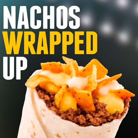 cajunboy:  uproxx:  Taco Bell Introduces New Culinary Abomination To Troll The Internet With: A Burrito Filled With Nachos  Mmmmm, heartburn!  I'm listening…