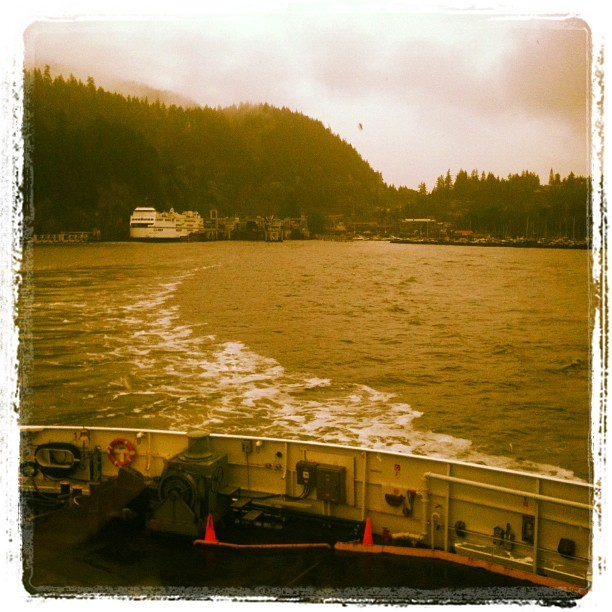 Bye mainland! (Taken with Instagram at Horseshoe Bay Ferry Terminal)