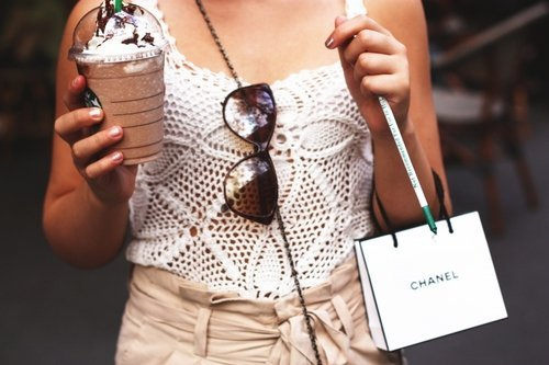 .Live.Laugh.Love. - Starbucks, Fashion and Chanel <3 on We Heart It. http://weheartit.com/entry/29026243