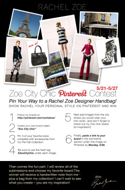 Help me celebrate the the launch of my Pinterest page by showing me your style! Click here for full contest rules.