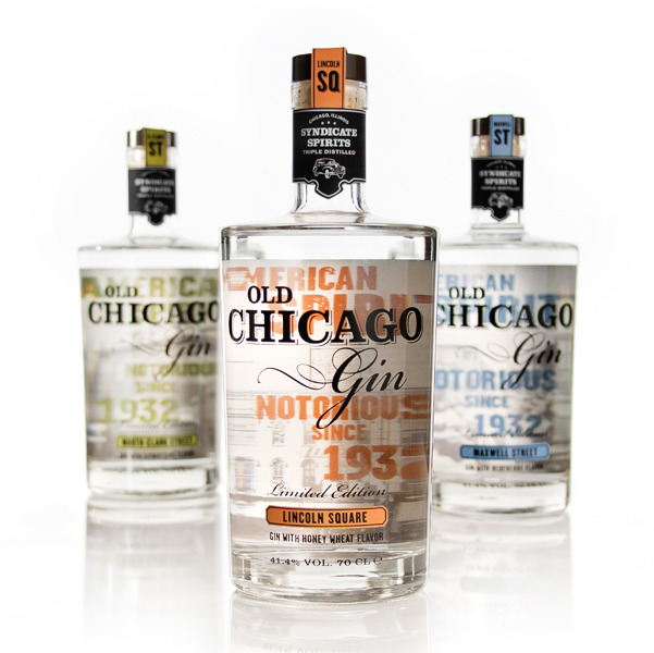 "considertheaesthetic:  ""Old Chicago Gin is a brand of American Gin inspired by the spirit's notorious history in Chicago during the 1930's Prohibition Era. It aims to compete with other brands within the category as well as another popular cocktail spirit, vodka."" By Kitman Leung."