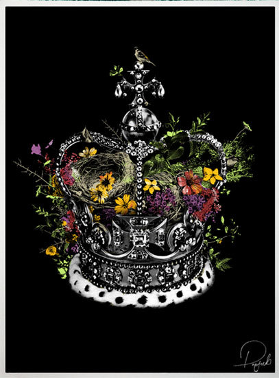 Crown and Country Jubilee (Silkscreen Signed Limited Edition of 150) by Prefab77