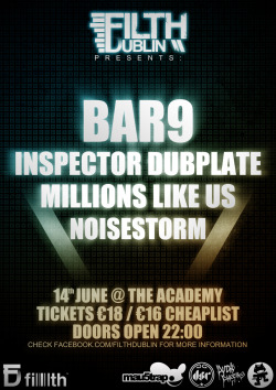 Our poster for Ireland biggest ever dubstep event. Get on the cheaplist here. See you there? Dillon