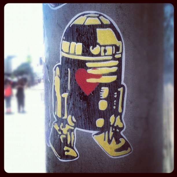 Some of that #robotwithheart on melrose #art #r2d2 #melrose #losangeles (Taken with instagram)