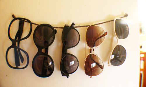 sunglasses organized and ready for summer sun :)