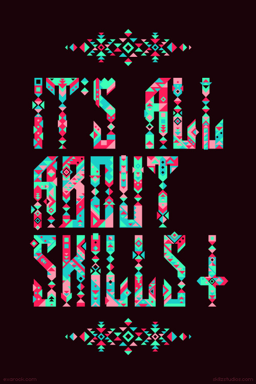 designcloud:  It's All About Skills by Exarock To see more work by Exarock, visit his website or Facebook.