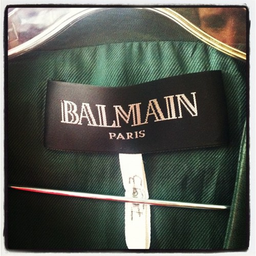Another little sneaky peeky. Yum! @balmainparis @voguechina (Taken with instagram)