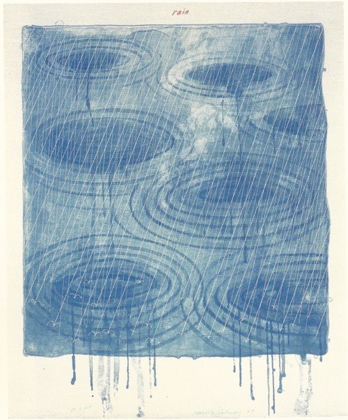 Rain, Lithograph, David Hockney.