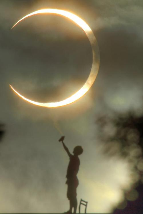 The Annular eclipse painter, Taiwan