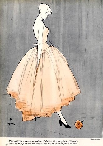 Christian Dior evening gown illustrated by Rene Gruau, 1948 (via Inspiration / Christian Dior evening gown illustrated by Rene Gruau, 1948)
