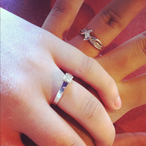 Our engagement rings (: