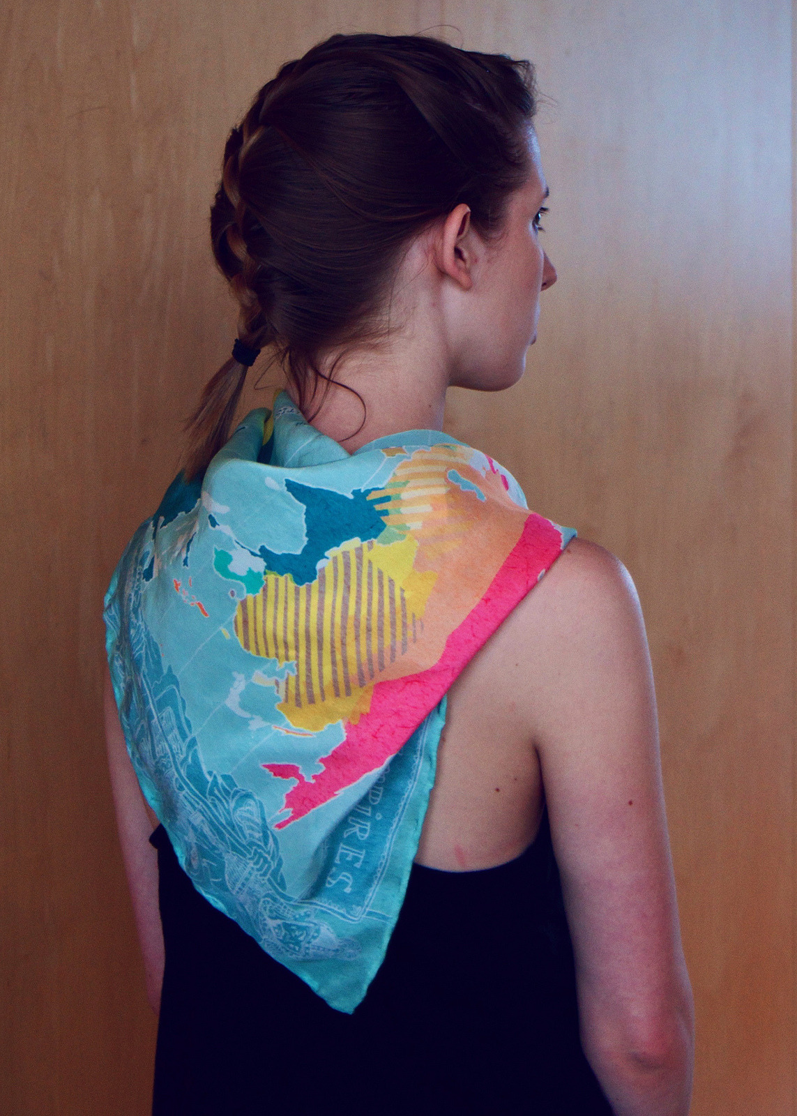 """The Expanse of Empires"" scarf- photo by Erik Puot"