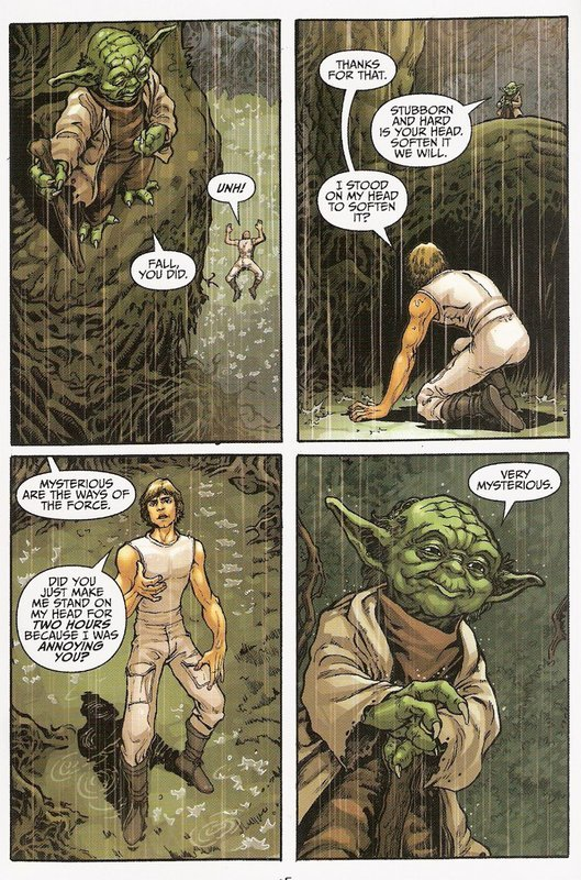 anghraine:  minutia-r:  anghraine:  Yoda: master troll.  Okay, I hate to keep bringing everything back to Avatar, but you know who would get along well with Yoda?  Uncle Iroh.  Yes. Yes, he would.  I don't even read ATLA fanfic and I DEMAND CROSSOVER.