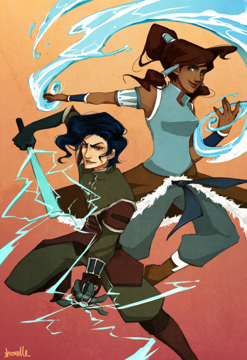 "shorelle:  o-okay so I finally caught up on Korra, and… I may have have finally started shipping .__. it's just… the rivalry! the chemistry! their ridiculously fabulous hair! and especially after The Aftermath episode (I seem to have a really bad thing for doomed non-canon ships and gratuitous conflict. BENDER X NON-BENDER IS THE NEW FIRE X WATER.) so random fanart time! :'D because now I have this AU where Tahno's meeting with the council ends up with him joining the Equalists as some sort of spy/infiltrator (where he becomes the poster boy for ""former bender who joins the cause after being cleansed by Amon"") and learns the ways of the non-bender ninjas, and then forms EPIC BENDER / NON-BENDER TEAM WITH KORRA, and tries to get revenge on Amon for taking away his bending and Korra vows to heal him and and and AHH THE POSSIBILITIES ;__; oh god I want this to happen so bad. it's times like this I wish I knew how to write fanfic :<"