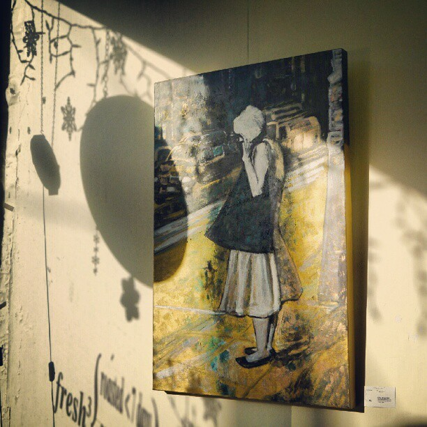#shadow on #painting in the #afternoon by @anbywarhal at instagram