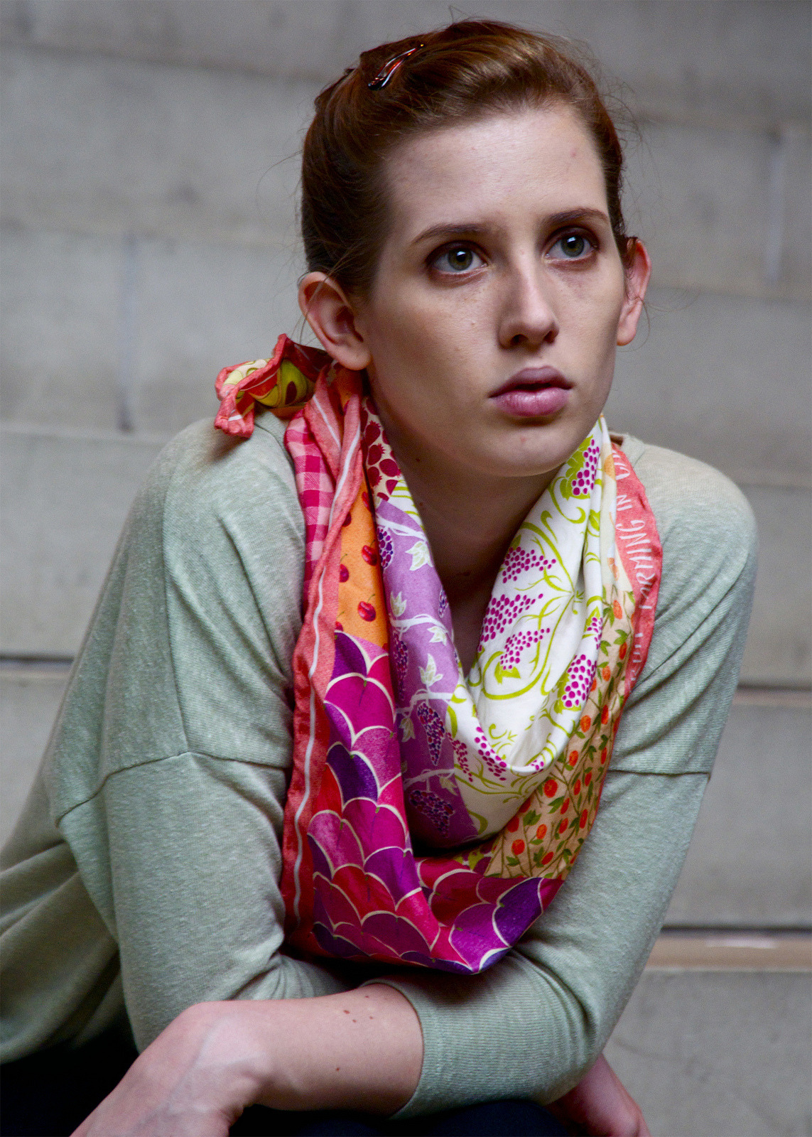 """Fruit Farming in California by Acreage"" scarf- photo by Erik Puot"