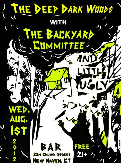 Our next show! At BAR on Aug. 1st! Mashed potato pizza! Free show! Gaaah!