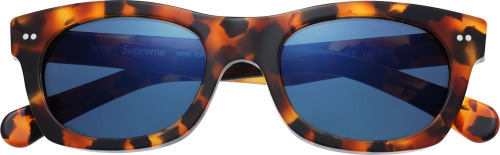 Supreme Sunglass Frames  This Spring, Supreme will release a new version of The Alton sunglasses. The frames are handmade in Italy,featuring Barberini glass lenses with anti-reflective coating,offering exceptional optical clarity and glare protection. The Alton will be available in four different colorways.