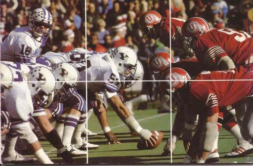 "BYU at Utah 1978.  How do you feel about the plain ""Y"" decals on the helmet?"