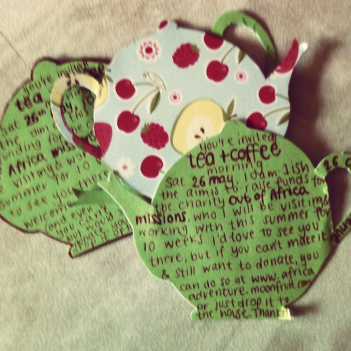 tea party invites complete! (: