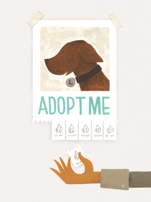 helpink:  Puppies worldwide need your help finding a home. This print by Roxanne Daner helps a great organization, Best Friends Animal Society, find homes for all sorts of animals. http://helpink.org/product/adopt-me  Help.