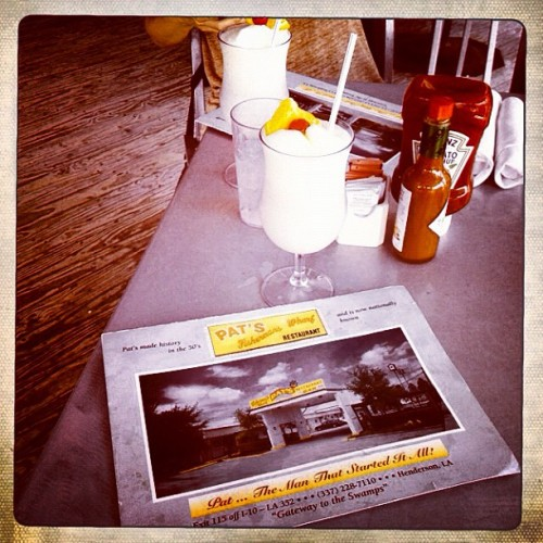 #warf #water #cajunfood #seafood #daiquiri #pinacolada  (Taken with Instagram at Pat's Fisherman's Wharf)