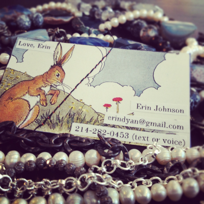 elementsboutique:  Business cards from Love, Erin. Aren't they darling?